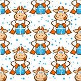 Cow seamless pattern Stock Photos