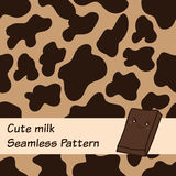 Cow seamless pattern. Cow spots seamless pattern. Abstract texture for chocolate milk design Stock Illustration