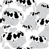 Cow seamless pattern. Seamless pattern of cow use as background, wallpaper, card , pattern and wrap paper Vector Illustration
