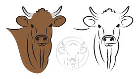 Cow set Stock Photography