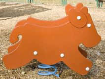Cow shaped game in a children playground Royalty Free Stock Photo