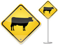 Cow sign Stock Images