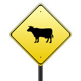 Cow sign Stock Photo