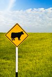 Cow signboard Royalty Free Stock Images