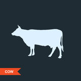 Cow silhouette Royalty Free Stock Image