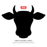 Cow silhouette Royalty Free Stock Photography