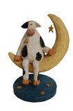Cow Sitting on Moon Stock Photo