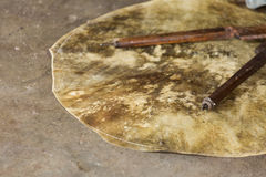 Cow skin taiko drum head Royalty Free Stock Photo