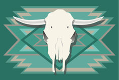 Cow skull with turquoise Southwest background 1 Royalty Free Stock Photos
