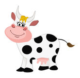Cow smiling. Cartoon illustration of a cow smiling Stock Photos