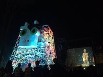 Cow Stage. Concert in pretburi province stock image