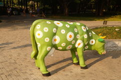 The cow statue Royalty Free Stock Photos
