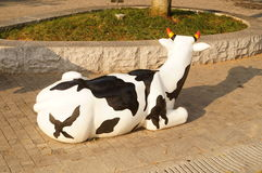 The cow statue Royalty Free Stock Photography