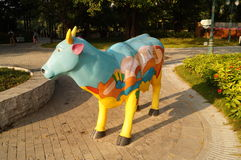 The cow statue Royalty Free Stock Images