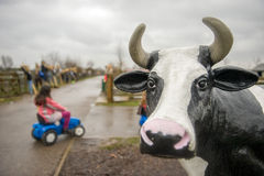 Cow statue Stock Photography