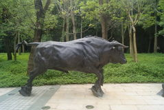 The cow statue Stock Photography