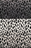 Cow style pattern. Textile background with split black and white cow pattern Stock Image
