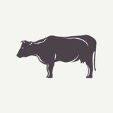 Cow symbol Royalty Free Stock Image
