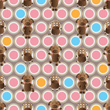 Cow symmetry style seamless pattern Royalty Free Stock Photo