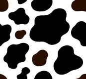 Cow texture pattern repeated seamless brown black and white lactic chocolate animal jungle print spot skin fur milk day. Print vector illustration