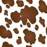 Cow texture pattern repeated seamless brown and white animal jungle print spot skin fur. Cow texture pattern repeated seamless brown and white lactic chocolate Stock Illustration