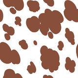 Cow texture pattern repeated seamless  chocolate animal jungle print spot skin cloud Royalty Free Stock Photo
