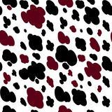 Cow texture pattern repeated seamless milk Stock Photos