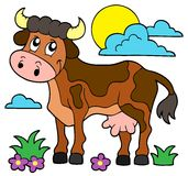 Cow theme image 1. Eps10 vector illustration Stock Photography