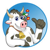 Cow thumbs up Royalty Free Stock Photography