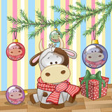 Cow under the tree Royalty Free Stock Photos
