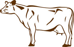 cow vector Royalty Free Stock Photos