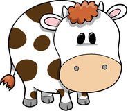 Cow Vector Illustration. Cute Milk Cow Vector Illustration Stock Photography