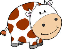 Cow Vector Illustration Stock Image