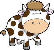 Cow Vector Illustration Stock Images