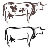 Cow. Vector illustration (EPS 10 Stock Photography