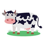 Cow Vector Illustration. Flat illustration of cute cow Stock Photo