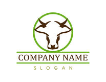 Cow vector logo Royalty Free Stock Images