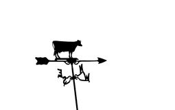 Cow weathervane. Cow, arrow pointer, directions on weathervane royalty free stock photo