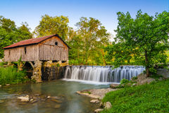 Cowan Mill, Southwestern Virginia, summer time. Cowan grist mill located in Southwestern Virginia in the Appalachian Mountains Royalty Free Stock Image