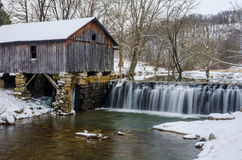 Cowans mill, winter, Lee County Virginia. A fresh winter snow over Historical Cowans Mill located in Southwestern Virginia Stock Photography