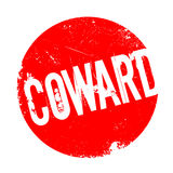 Coward rubber stamp Royalty Free Stock Photography