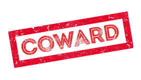 Coward rubber stamp Stock Photo