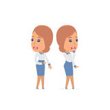 Cowardly Character Consultant Girl heard something and very scared Royalty Free Stock Photo