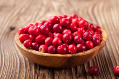 Cowberries, red bilberries, cranberries Royalty Free Stock Photography