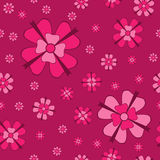 Cowberry flowers with bows seamless pattern Stock Photo