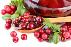 Cowberry jelly Stock Image