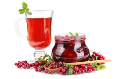 Cowberry Jelly And Tea Royalty Free Stock Photography