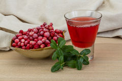 Cowberry juice Royalty Free Stock Images
