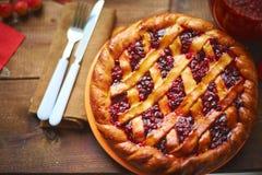 Cowberry pie Stock Photo