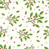 Cowberry seamless pattern. Cute and simple cowberry seamless pattern. Flat style Stock Photo